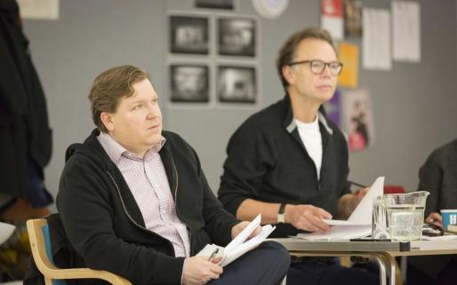 David Lindsay-Abaire and Jonathan Kent in Good People rehearsals